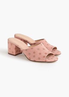 J.Crew All-day mules (60mm) in starry suede