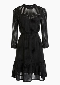 J.Crew All-over eyelet long-sleeve dress