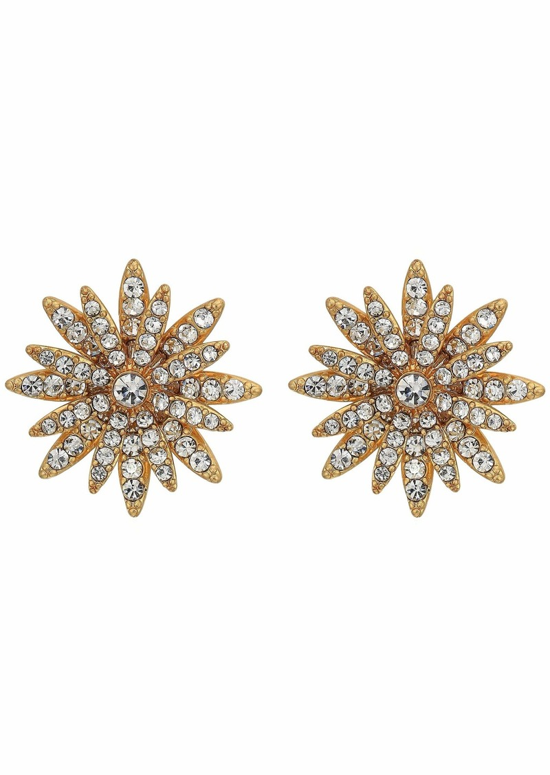 J.Crew All Pave Daisy Stud Earrings