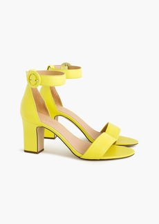 J.Crew Ankle strap high-heel sandals in leather