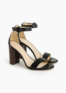 J.Crew Ankle strap stacked-heel sandals (100mm)