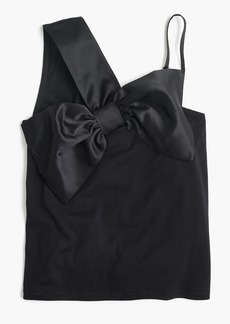 J.Crew Asymmetrical bow top