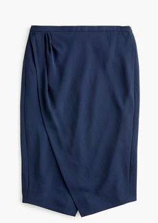 J.Crew Asymmetrical pencil skirt in Japanese weave