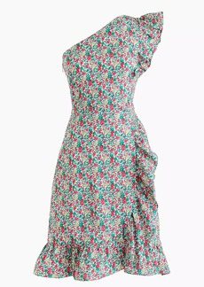 J.Crew Asymmetrical ruffle dress in Liberty® Emma & Georgina floral