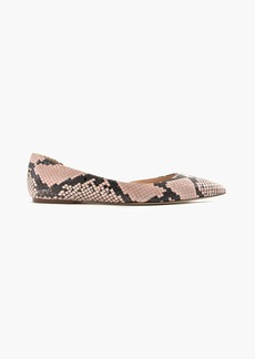Audrey flats in snakeskin-printed leather