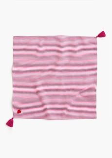 J.Crew Bandana scarf in strawberry stripe