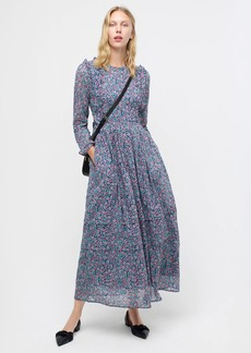 J.Crew Banjanan Miranda long-sleeve dress in mini floral print