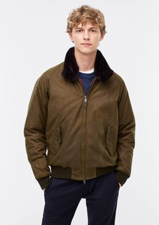 J.Crew Baracuta® G9 jacket with sherpa collar