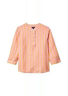 J.Crew Baude Linen Tunic Top in Bold Stripe