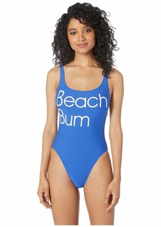 J.Crew Beach Bum Plunging Scoop Back One-Piece Swimsuit