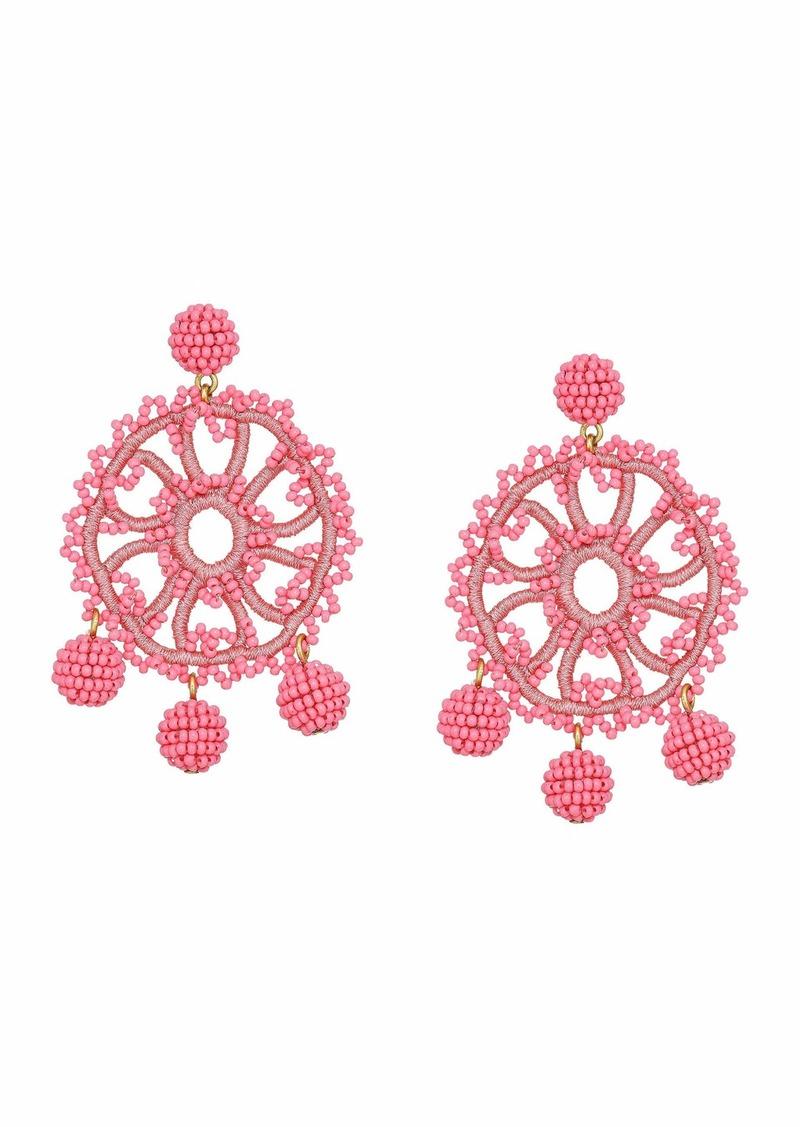 J.Crew Beaded Crochet Flower Earrings