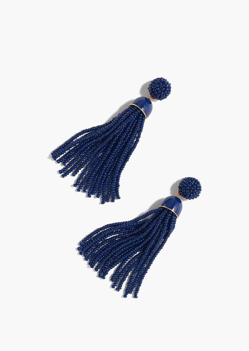 J.Crew Beaded tassel earrings
