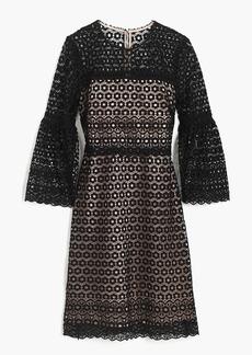Bell-sleeve daisylace dress