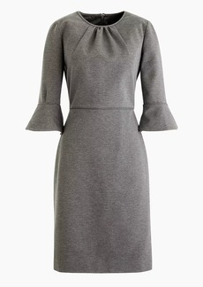 J.Crew Petite bell-sleeve sheath in stretch ponte
