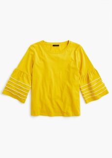 J.Crew Bell-sleeve top with piping
