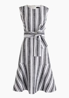 J.Crew Petite Belted dress in linen