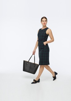 J.Crew Belted sheath dress in Black Watch tartan