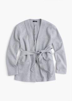 Belted sweatshirt blazer