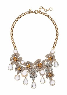 J.Crew Bethan Pave Flower Statement Necklace