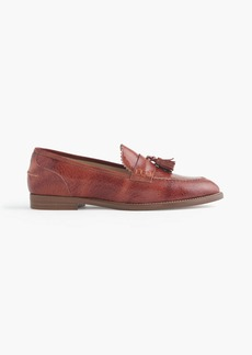 J.Crew Biella crackled leather loafers