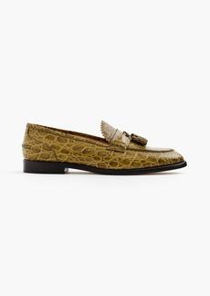 J.Crew Biella loafers in crocodile-embossed leather