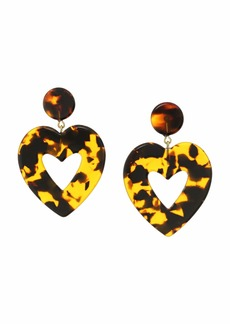 J.Crew Big Heart Acetate Earrings