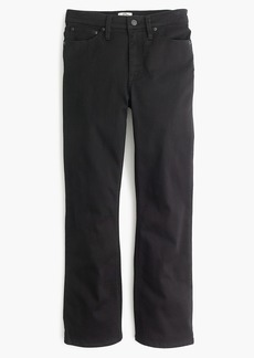 Billie demi-boot crop jean in black
