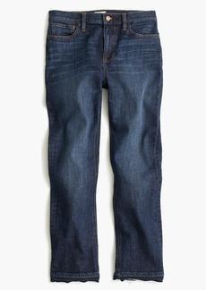 Billie demi-boot crop jean in Brookdale wash