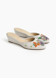 J.Crew Blanche beaded mini-wedge mules (45mm)