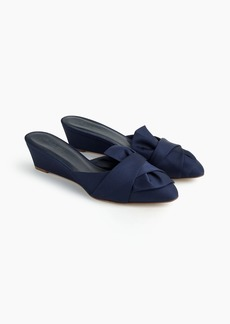 J.Crew Blanche satin mini-wedge mules (45mm)