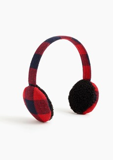 J.Crew Bluetooth earmuffs in buffalo plaid