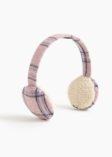 J.Crew Bluetooth earmuffs in pink plaid