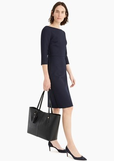 J.Crew Boatneck sheath dress in matelassé