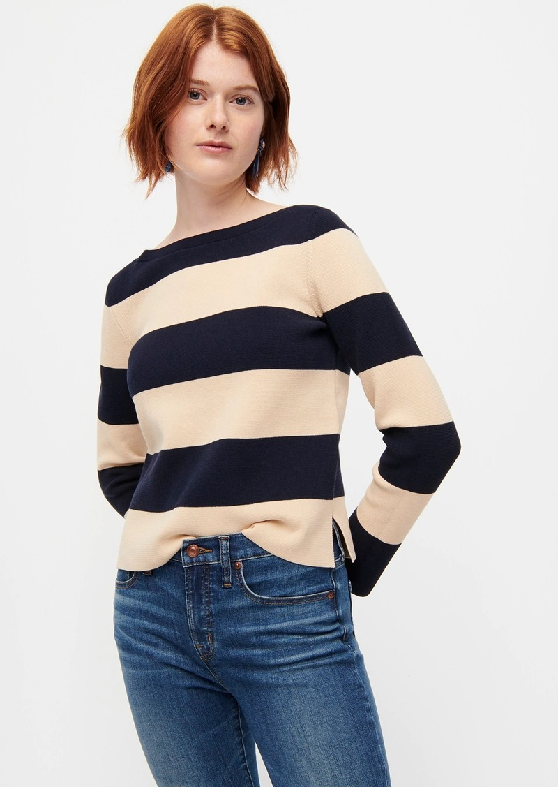 J.Crew Boatneck sweater in rugby stripe