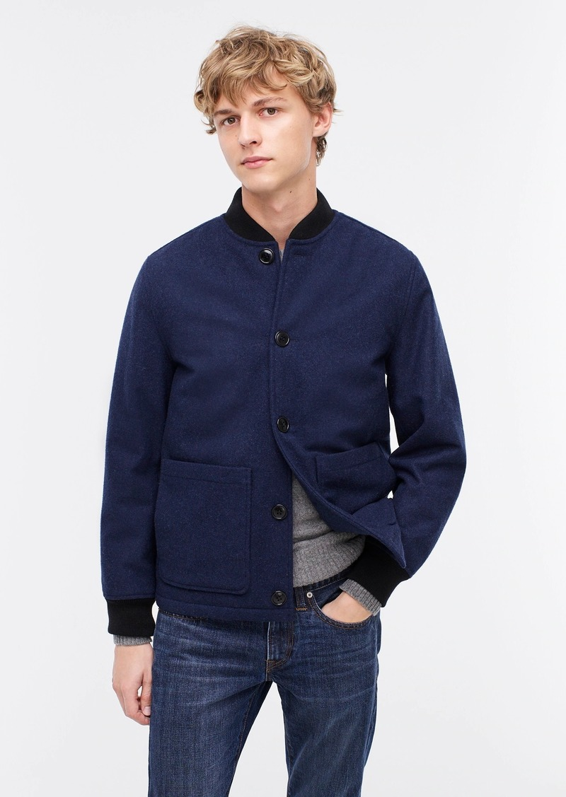 J.Crew Bomber jacket in wool-blend with eco-friendly PrimaLoft®
