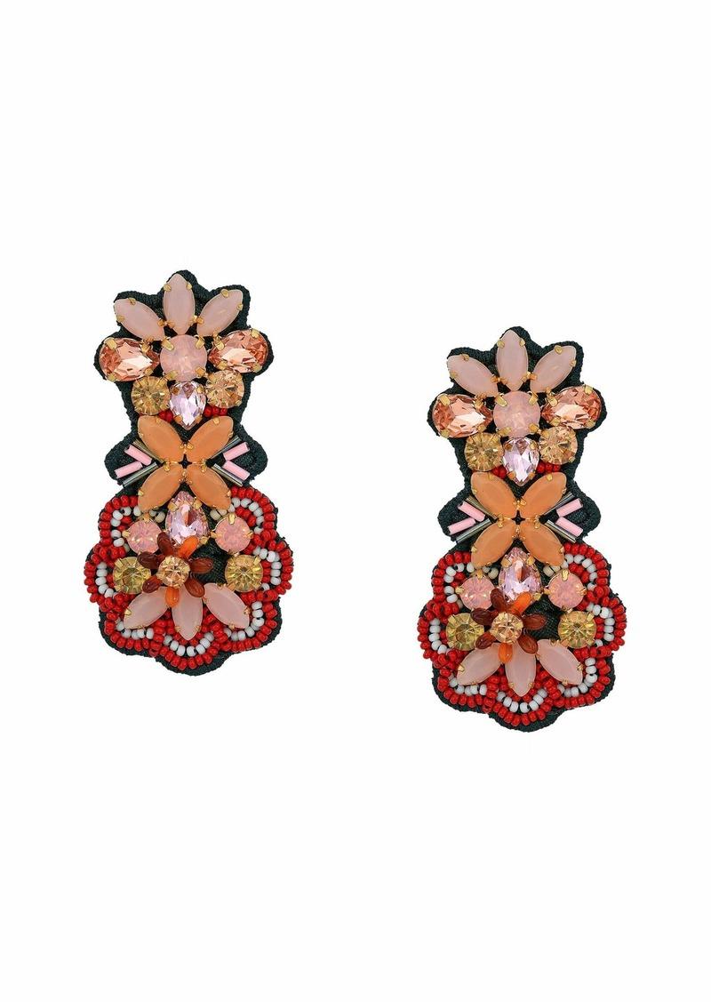 J.Crew Botanical Fabricback Earrings