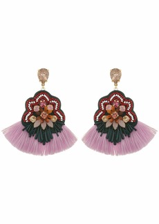 J.Crew Botanical Mixed Fringe Earrings