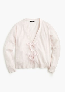 J.Crew Bow-front cardigan sweater