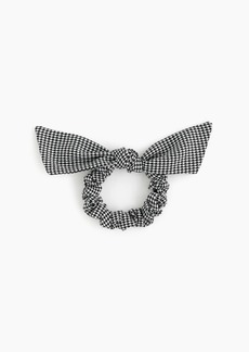 J.Crew Bow scrunchie in houndstooth