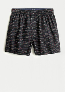 J.Crew Boxers in holiday light print