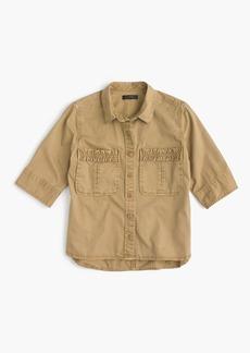 J.Crew Boy-meets-girl utility shirt