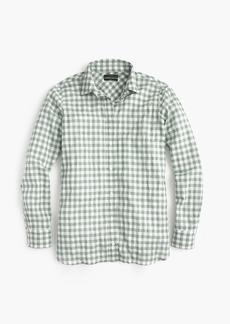 J.Crew Petite boy shirt in crinkle gingham