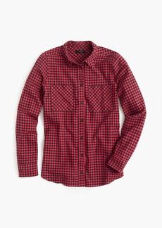 Petite boy shirt in mini buffalo check