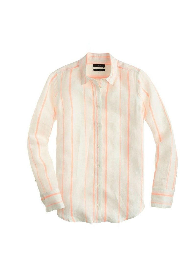 J.Crew Boy shirt in orange stripe