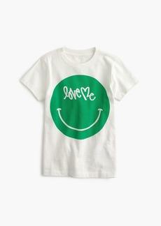"J.Crew Boys' crewcuts x Curtis Kulig ""love me"" emoji T-shirt"