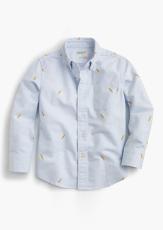 J.Crew Boys' critter oxford shirt in pencils