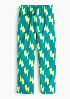 J.Crew Boys' fleece pant in lightning print