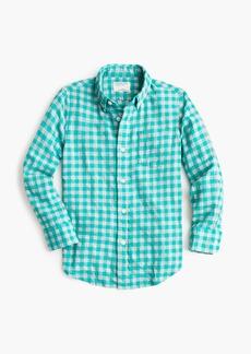 2828d878b3b95e On Sale today! J.Crew Kids' lightweight flannel shirt in navy plaid