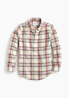 1e796929cedf6c J.Crew Boys' lightweight flannel shirt in ivory plaid