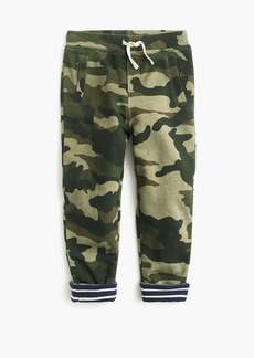 J.Crew Boys' lined sweatpants in camo